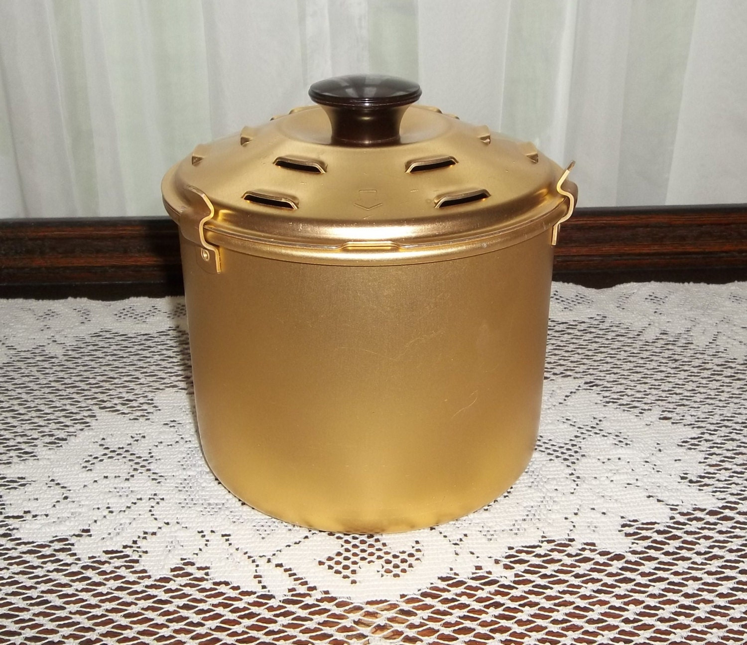 Vintage Rival Crock Pot Bread And Cake Bake Insert Pan Gold