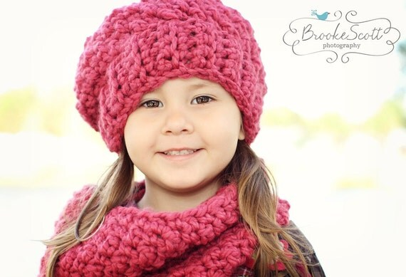 Childrens Crochet Hat, Slouchy Hat, Winter Hat, Winter Fashion
