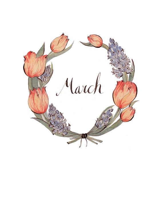 items similar to march wreath 8 5x11 on etsy