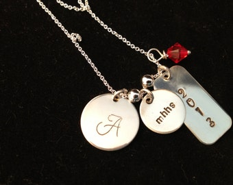 Graduation Necklace - Personalized Sterling Silver