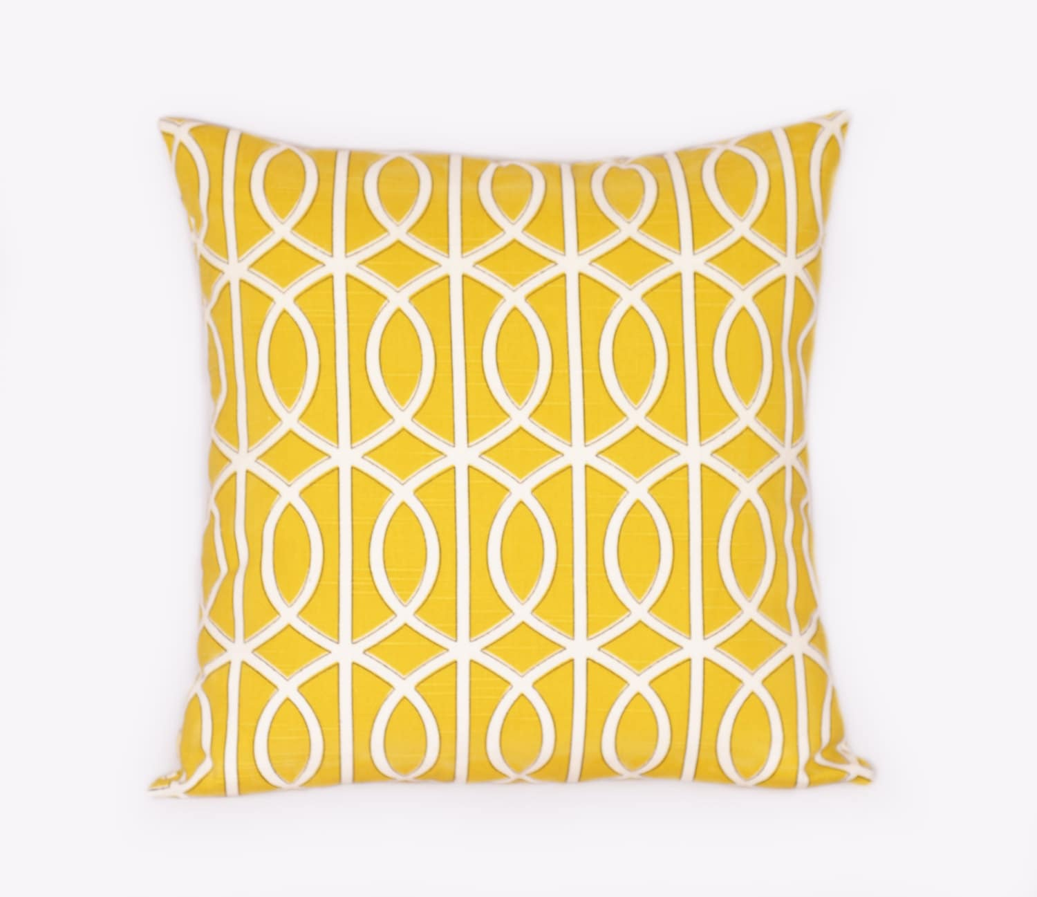 Mustard Yellow Pillow Geometric Home Decor Chain