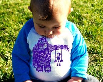 Monster Camouflage 1.0 Baby Baseball T-Shirt