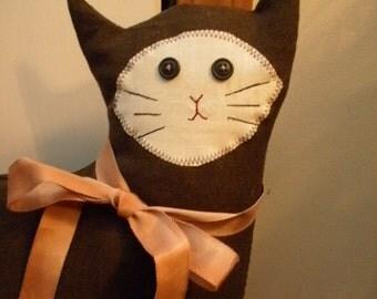 Draft Stopper Cat, Kitty--- Draft Stopper, Door Stop, Long Tail, Animal Door Stop, Pet Door Stop, Animal Draft Stopper