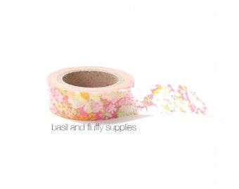 Washi Tape Floral Washi Tape Pink Green Orange Paper Tape