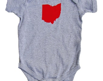 Baby One-Piece - Ohio State (Scarlet and Grey)