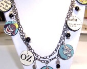 Ozma of Oz Paper Bead Necklace, Wizard of Oz