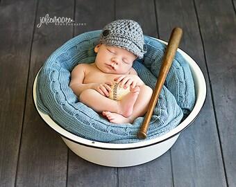 Newborn Boy Newsboy Hat - Ready to Ship