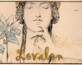 Athena... Vintage  Erotic Art PRINT... Deluxe Erotic Art Print... Vintage Art Deco Image... Available In Various Sizes