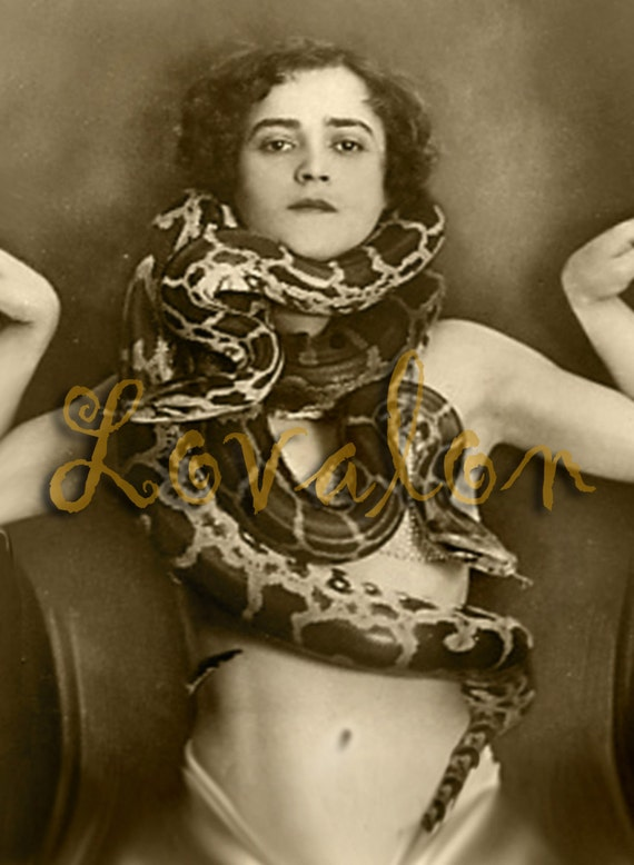 MATURE... Snake Girl... Vintage Erotic Photo PRINT... Available In Various Sizes
