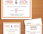 Modern Typography Fall / Autumn Wedding Collection / Invitation / RSVP / Save the Date Postcard PRINTABLE / DIY