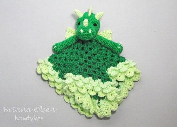 Crochet Lovey : Dragon Lovey CROCHET PATTERN instant download - blankey, blankie ...