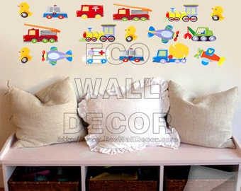 PEEL and STICK Removable Vinyl Wall Sticker Mural Decal Art - Cars in Traffic II