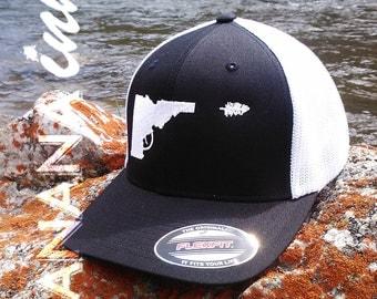 Idaho Gun-Tree Hat- Flex Fit -BANANA ink
