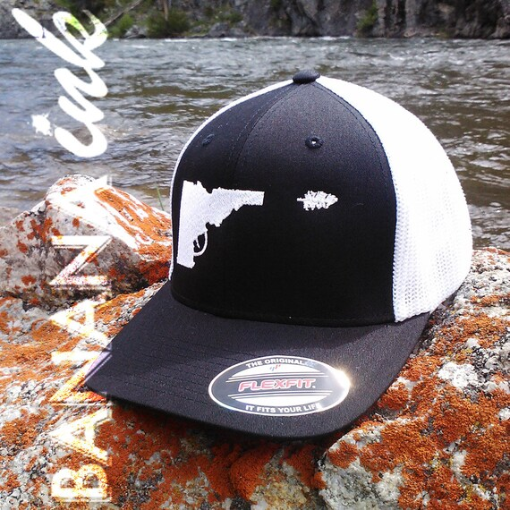 Idaho Gun Tree Hat Flex Fit Banana Ink