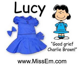 Charlie Brown's Lucy costume for adults - great for theater and Cosplay