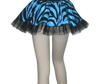 Adult tutu, Tutu style animal print skirt, animal print mini skirt, Zebra print mini skirt