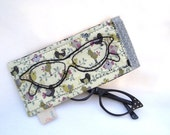 Retro Hand embroidered eyeglasses sunglasses case pouch holder