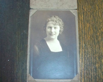 Vintage 1920s Photograph Portrait of a Young Woman 6 1/4 x 4 1/4