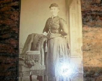 Vintage CDV Photograph Victorian Woman 1800s