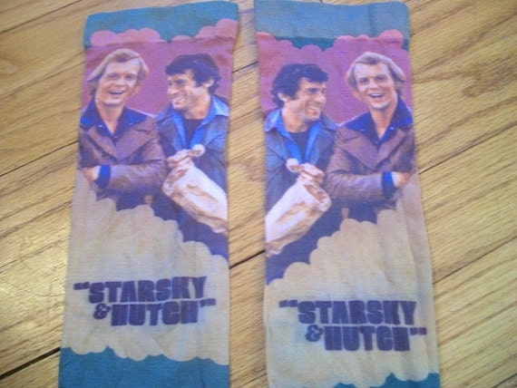 70s Starsky & Hutch Knee Socks Novely TV Shows Charlies Angels