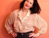 Vintage Sheer Silk Tunic/Blouse