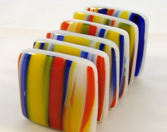 Fused Glass Magnets - Set of 6