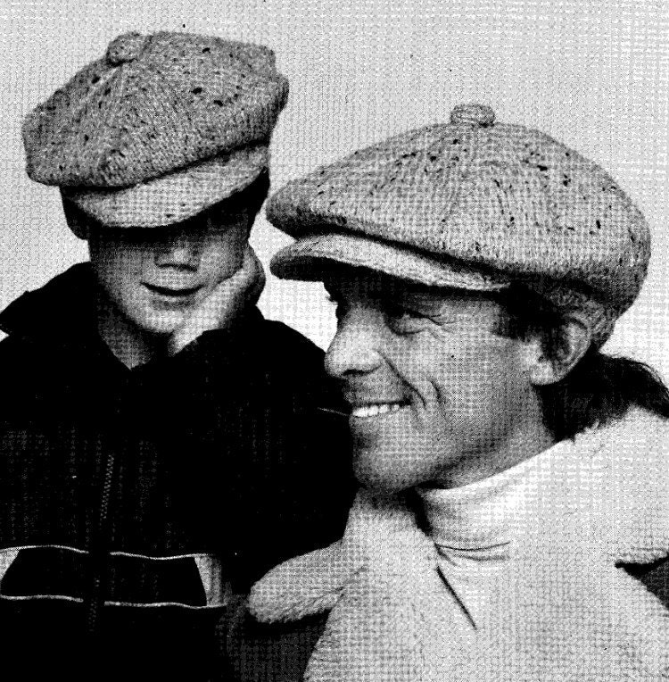 Knitting Pattern For Peaked Beanie : Vintage Knitting Mens & Womens Peaked Hat Knitting