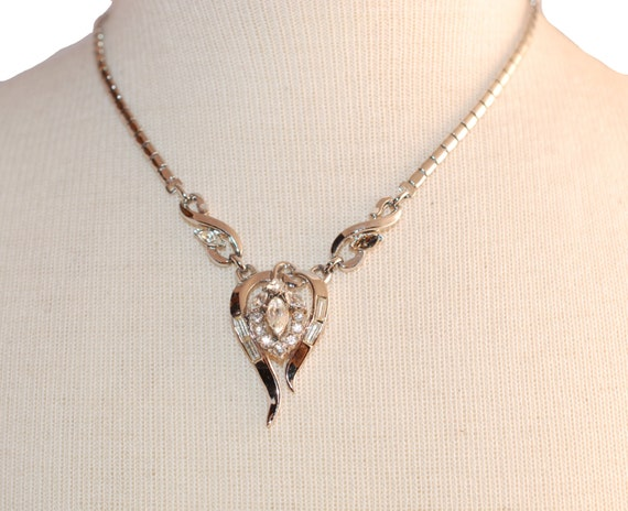 ON RESERVE for another customer.  Check out more from Madge, Trifari Pendant Necklace by Alfred Philippe
