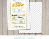 Chevron Baby Shower Invitation (Printable) by Vintage Sweet