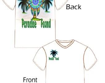 Paradise Found Tropical Tee Shirt