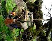 Handfasting Gift 'Witches Hollow' Pagan Wiccan Bird House / Feeder & Herb Drier.