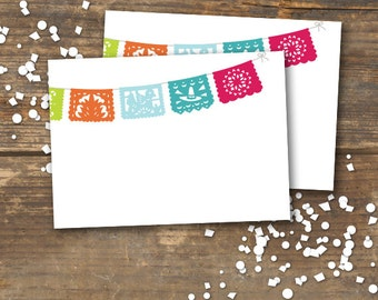Menu Tent Cards Fiesta Printable Papel Picado