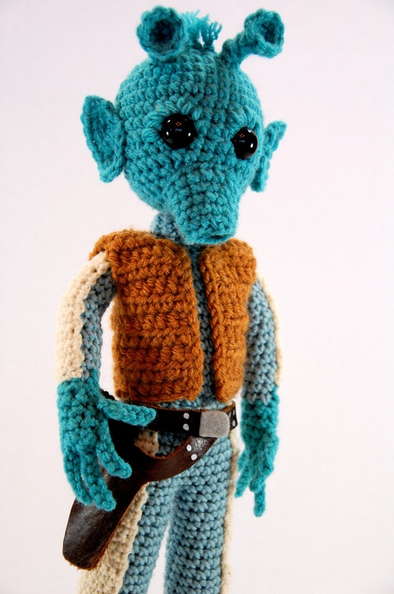 Crochet Patterns Star Wars : Greedo Star Wars Amigurumi Crochet doll Pattern by craftyiscoolcrochet