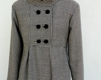 Ladies Swing Coat in Corduroy Wool or Tweed Optional Hood Fully Lined Jacket for Warm Winter Outerwear