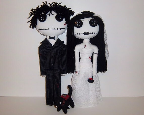 Bride and Groom Gothic Rag Dolls