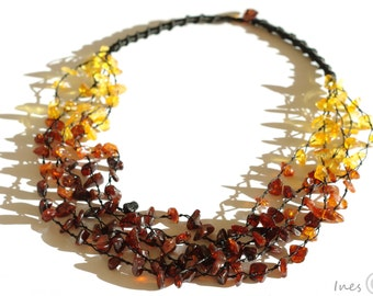Baltic Amber Necklace, Rainbow color necklace