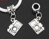 Silver Camera Dangles for European Charm Bracelet 1pc