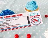 DIY PRINTABLE Invitation Card - Airplane Baby Shower Invitation - BS818CA1a1