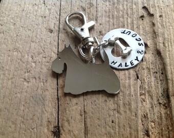 Scottish Terrier  Custom Keychain Dog Lover Scotty