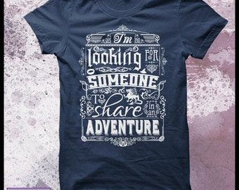 The Hobbit t shirt Help wanted - Men's Decorative typography movie t shirt