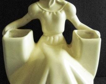 Vintage Art Deco Betty Vase or Holder w/ 2 Openings