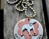 Adopt A Pit Bull Handstamped Necklace
