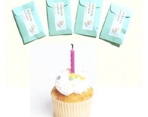 Birthday Cake Scented Mini Sachets Drawer DIY Party Favors Aqua Seed Packets Home Fragrance Teen Gift Teenage Locker Decorations