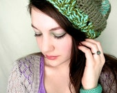 SALE: Green and Turquoise Beanie