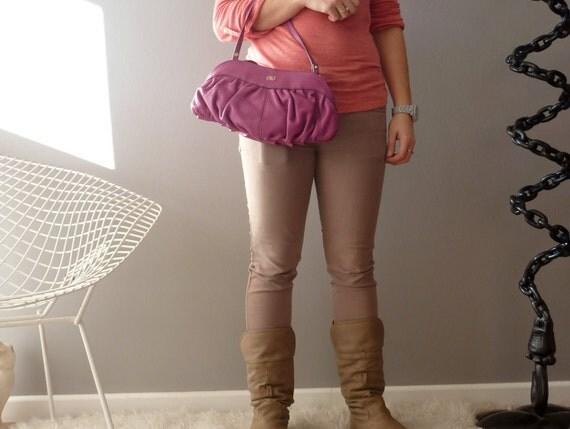 SALE Fuschia Lancel Gousset FRANCE shoulder bag