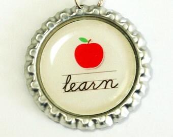 Learn, Teacher Bookmark, bookmark, book mark, Shepherd Hook, gift for teacher, teacher (2541)
