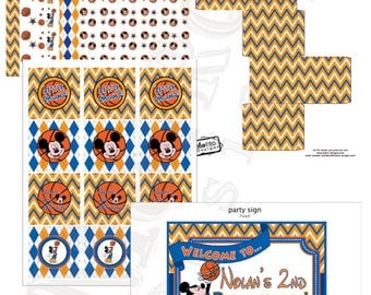 Mickey Mouse Basketball Party Decor