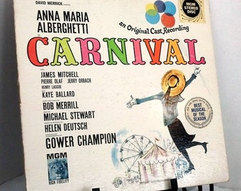 Vintage Vinyl Record Carnival Original Cast Recording MGM 1961