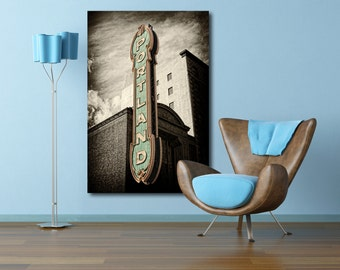 Portland Oregon Sign Gallery Canvas Wrap--Fine Art 24x36