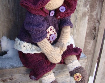 Knitting Pattern Large Rag Doll : Ragdoll to knit Etsy
